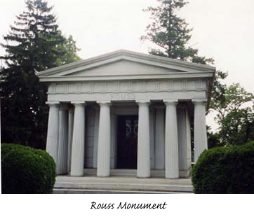 Monument Rouss at Mt Hebron Cemetery